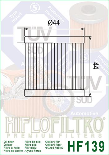 Hiflo 3x /Ölfilter DR-Z 400 2000-2004 HF139