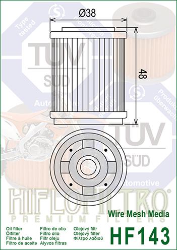 1991-2004 Yamaha YFM250 Bear Tracker ATV Hiflo Oil Filter
