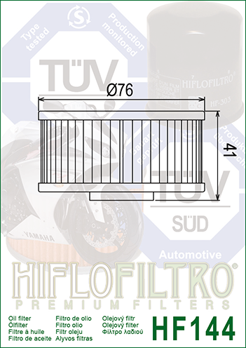 Hiflo Hf144/Filtro Olio