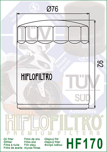 HiFlo Ölfilter HF170B Harley Davidson FLSTC 1340  1993