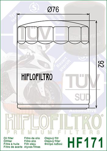 HifloFiltro HF171C Filtro para Moto