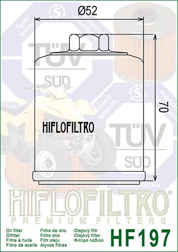 HF197 HI-FLO FILTRO OLIO Aeon 300 Elite i.e.