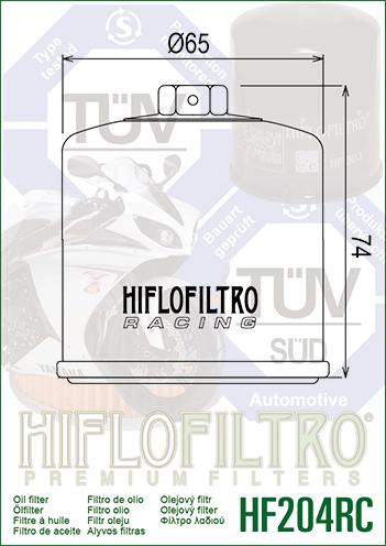 Kawasaki W650 C1-C5 99-05 HiFlo Race Racing Oil Filter HF204RC EJ650