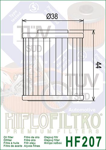 KAWASAKI KX450 JKF 4-Stroke 2019 HiFlo Oil Filter HF207