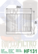 Filtre à huile HIFLO hf131 HYOSUNG RT 125 témoigne Citytrail Année de construction 2003-2006